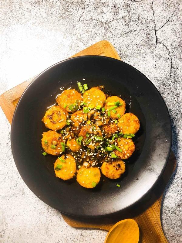 茄汁脆皮日本豆腐成品图