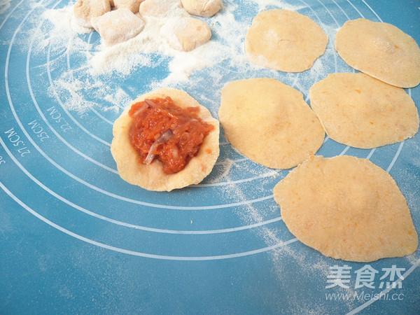 南瓜胡萝卜猪肉水饺怎么煸