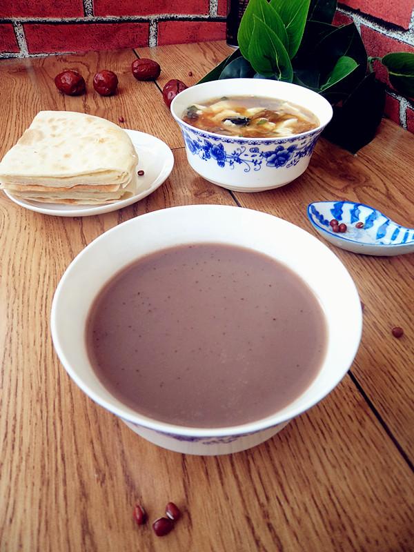 红豆红枣豆浆成品图