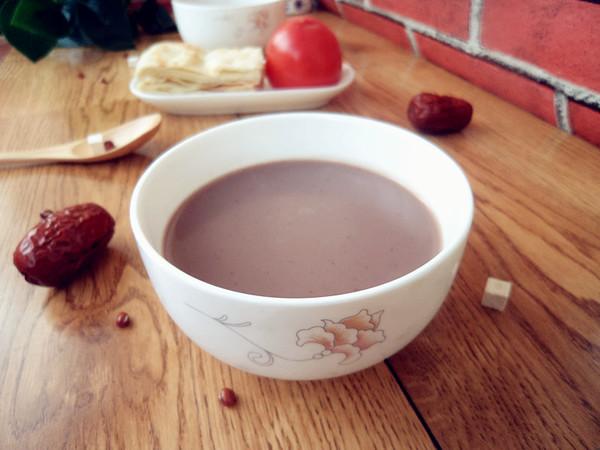 茯苓双红豆浆成品图
