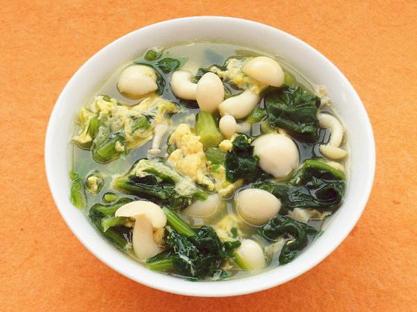菠菜白玉鸡蛋汤成品图