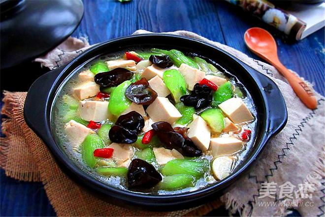 丝瓜炖豆腐成品图