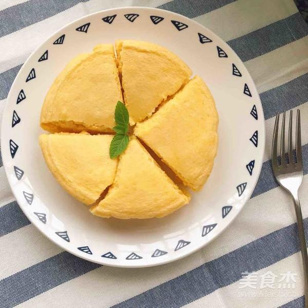 木瓜牛奶蒸蛋糕成品图