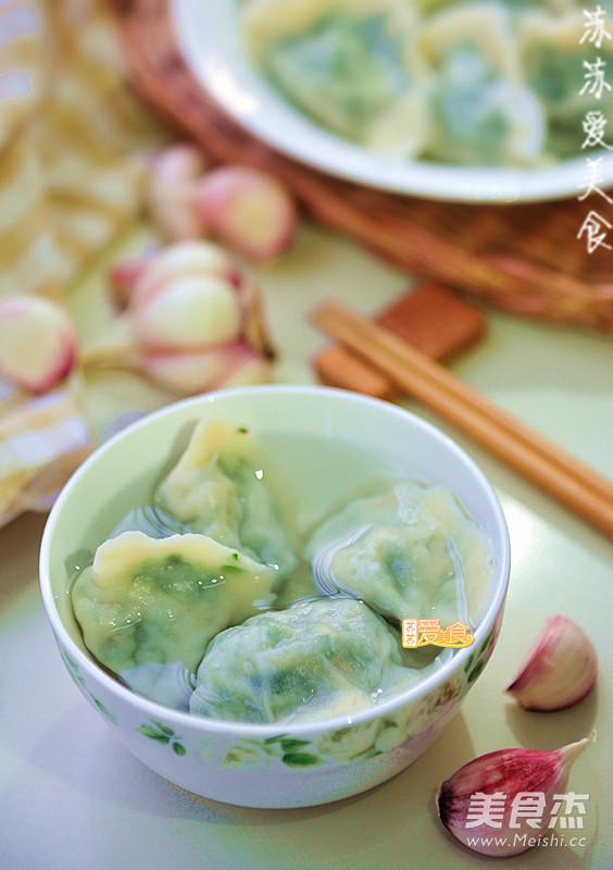 荠菜水饺成品图