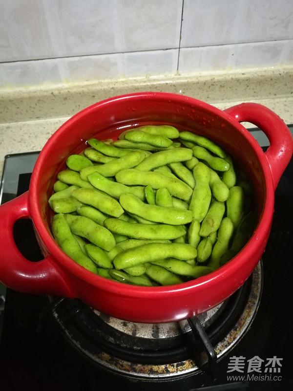五香毛豆的家常做法