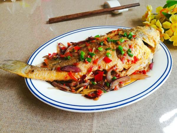 红烧黄花鱼成品图