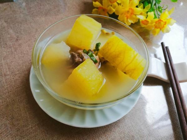冬瓜绿豆大骨汤成品图