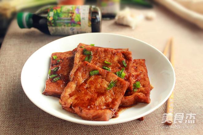 酱汁脆香豆腐成品图