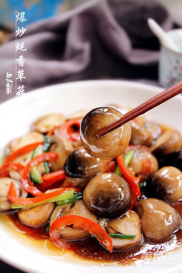 爆炒蚝香草菇成品图