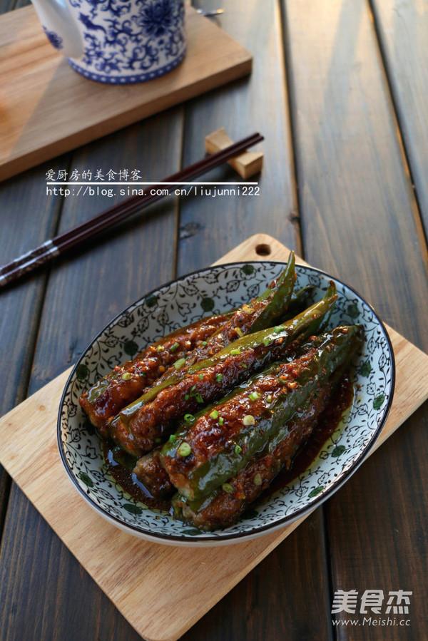 青椒酿肉成品图