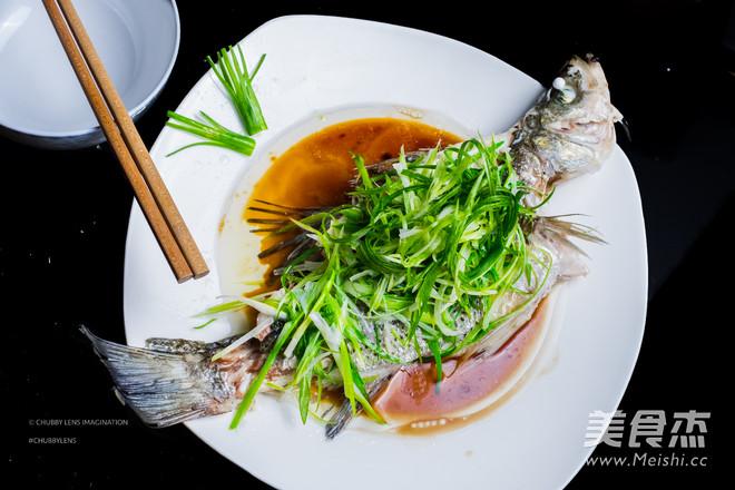 清蒸鲜鱼,完美教程成品图