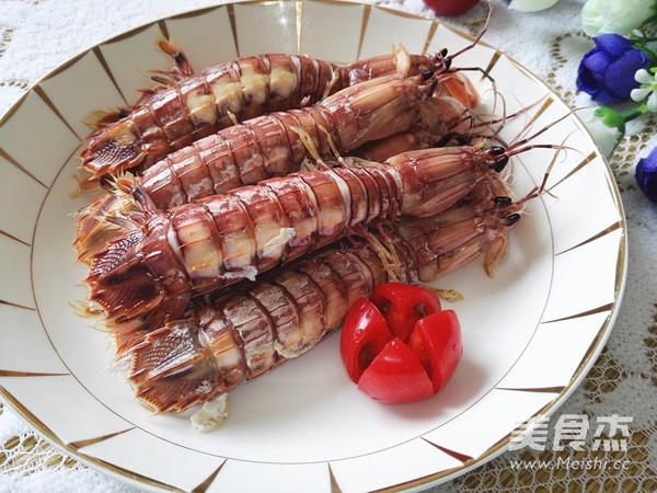 清蒸皮皮虾成品图