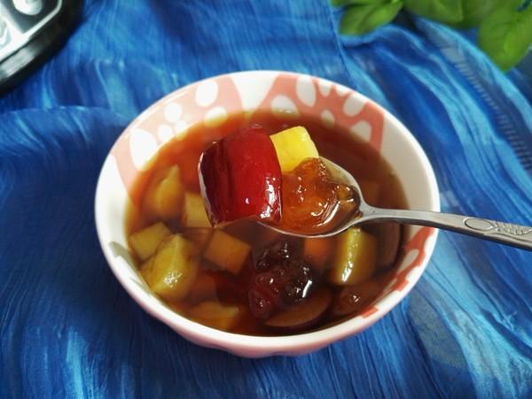 桃胶番薯红枣羹成品图