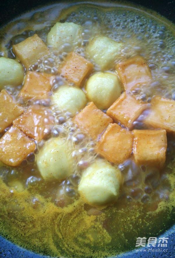 香港咖喱鱼丸的家常做法