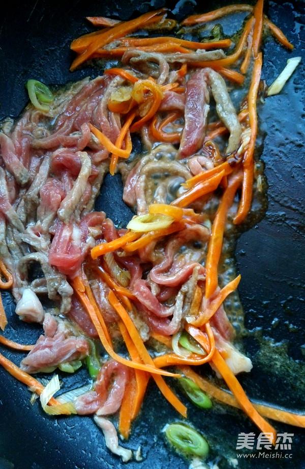 蚝油杏鲍菇炒肉丝的做法图解
