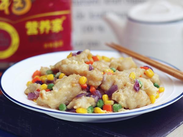 什锦熘鱼块成品图
