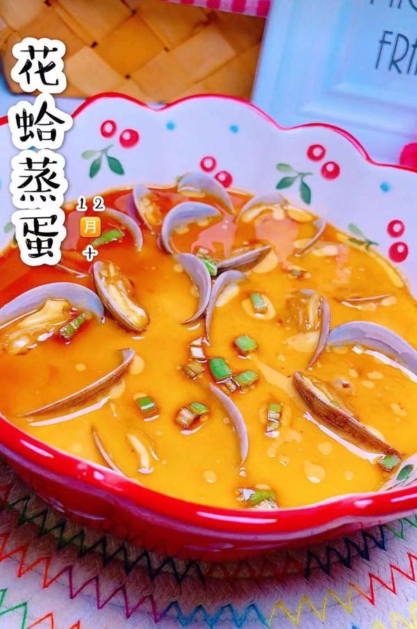 花蛤蒸蛋成品图