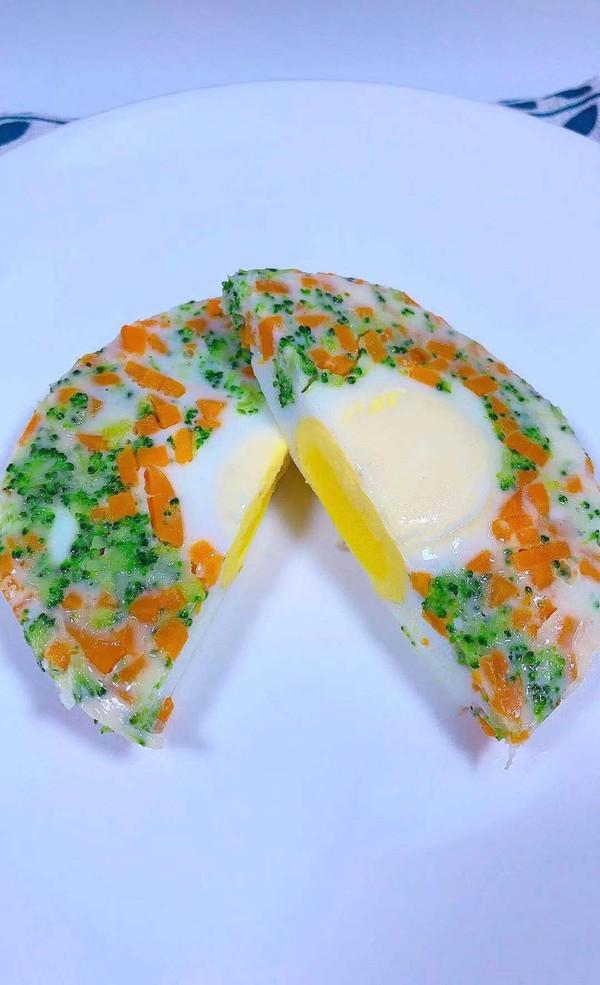 蔬菜蒸蛋羹成品图