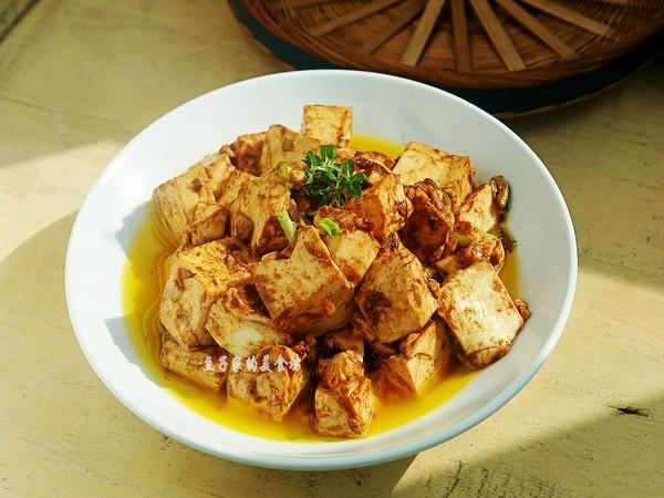 黄酱炒豆腐成品图