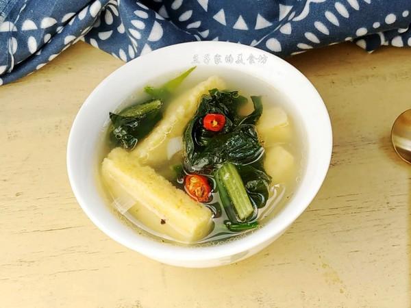 杂粮菠菜汤成品图