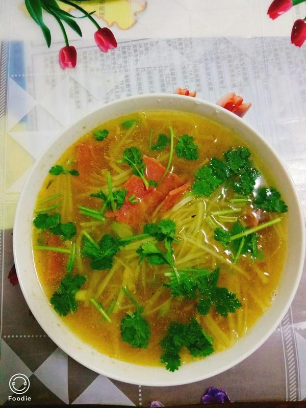 美味土豆丝汤成品图