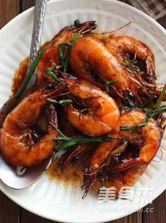 香葱红汁虾成品图