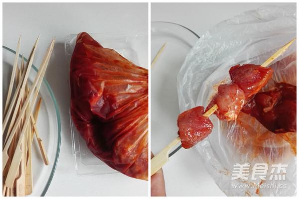 微波烤肉串的简单做法