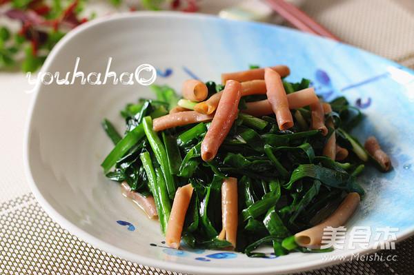 韭菜炒海肠成品图