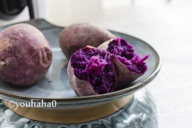 烤紫薯成品图