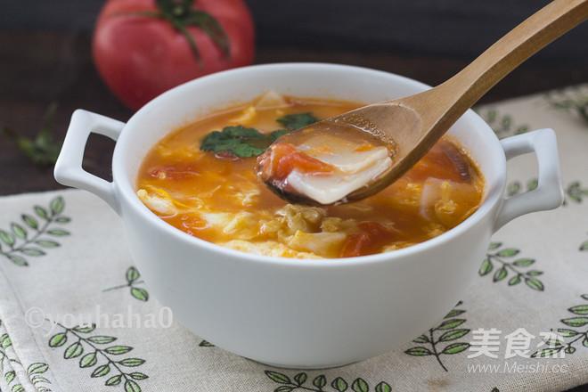 西红柿鸡蛋年糕汤成品图