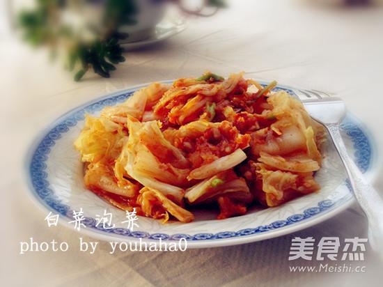 韩式白菜泡菜成品图
