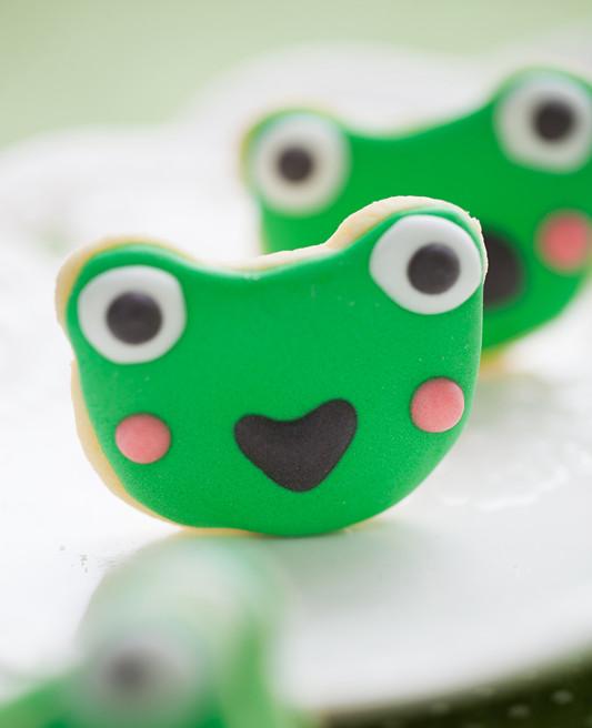 青蛙饼干成品图