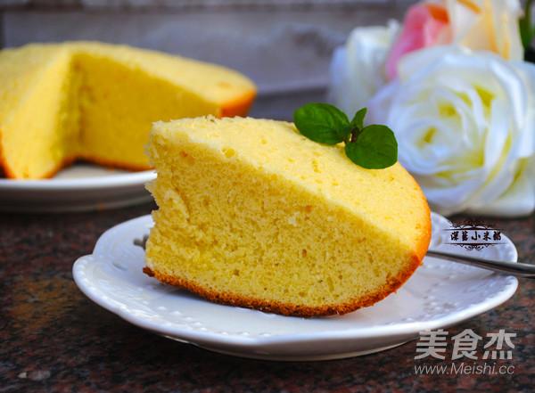 电饭锅版海绵蛋糕成品图