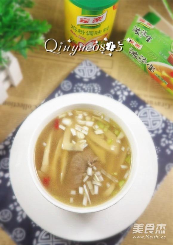 水煮竹笋汤成品图
