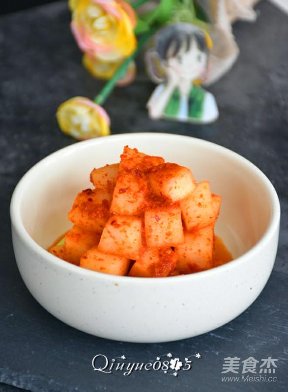 韩式白萝卜泡菜成品图