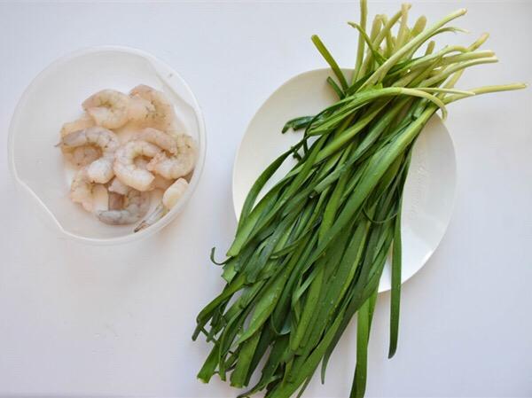 新奥尔良虾仁韭菜的做法大全
