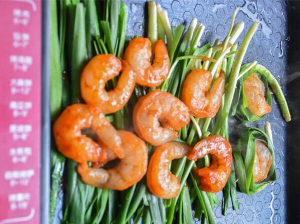 新奥尔良虾仁韭菜的简单做法