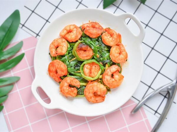 新奥尔良虾仁韭菜怎么做