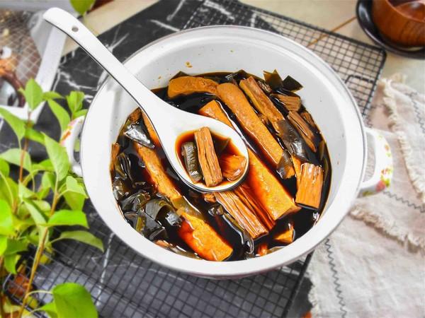 卤海带豆腐干成品图