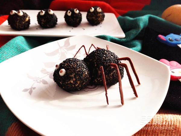 万圣节之黑芝麻球——蜘蛛&小精灵成品图