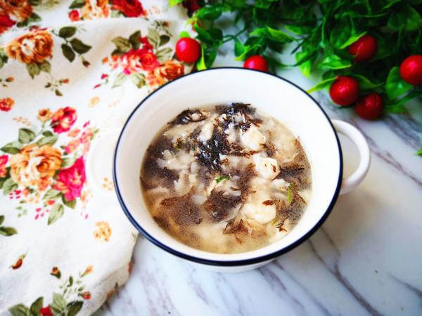 海菜疙瘩湯成品圖
