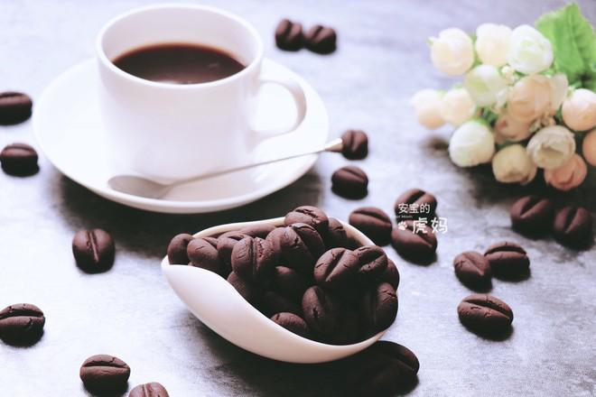 咖啡豆饼干成品图