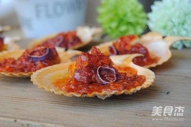 韩式烤扇贝成品图