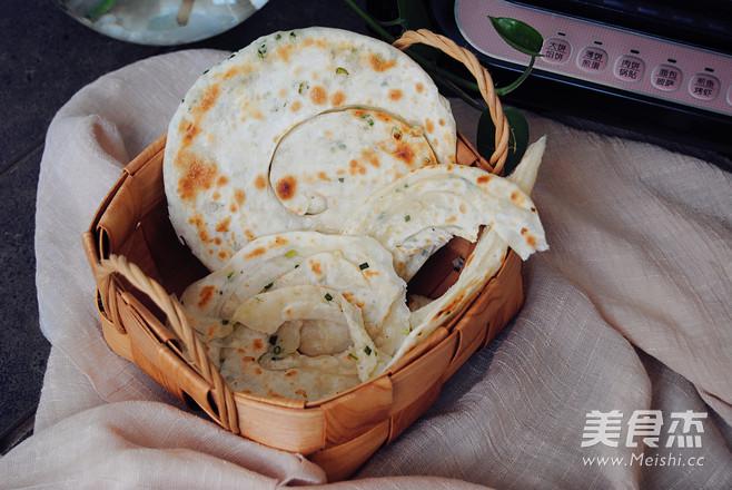 小葱煎饼成品图