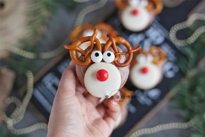 圣诞麋鹿蛋糕成品图