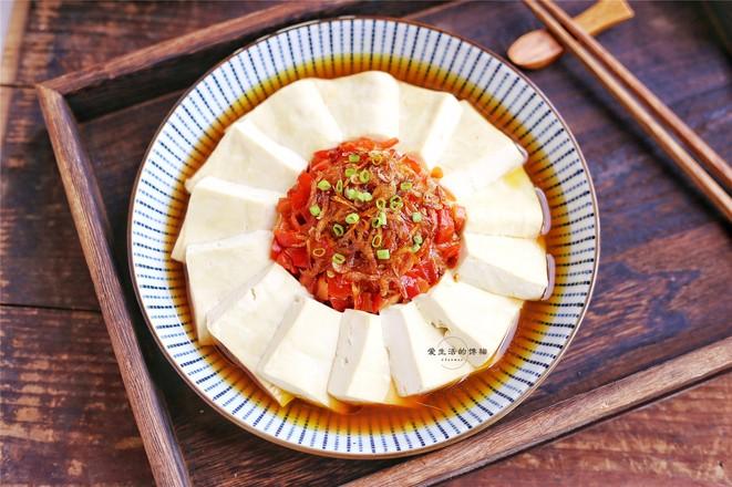 剁椒虾皮蒸豆腐怎么炒