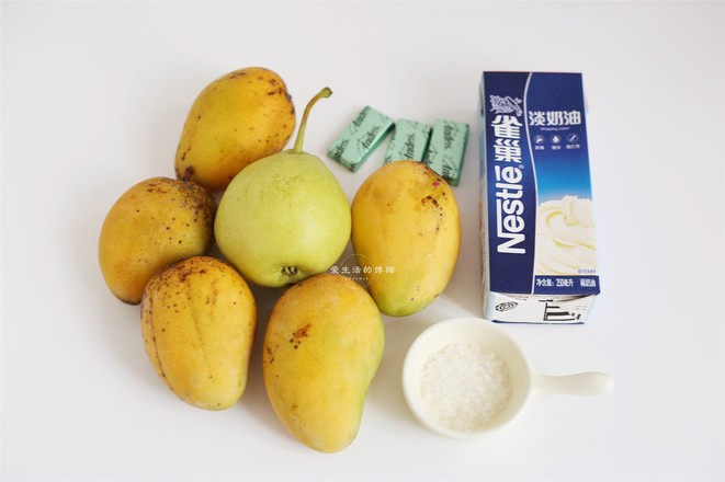 芒果香梨奶盖的做法大全