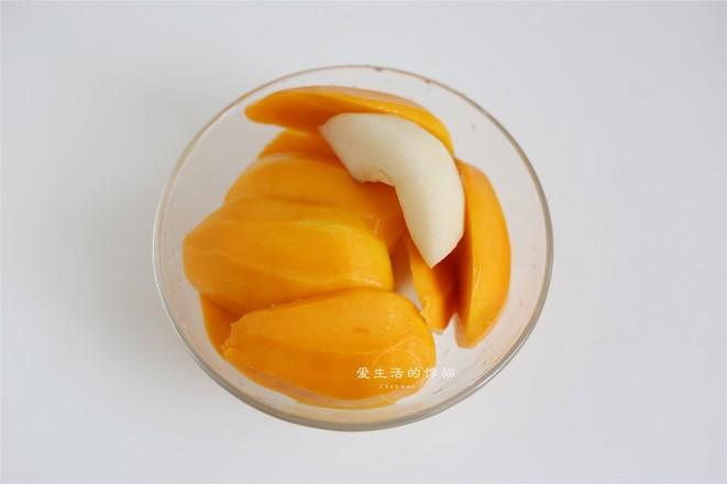 芒果香梨奶盖的做法图解
