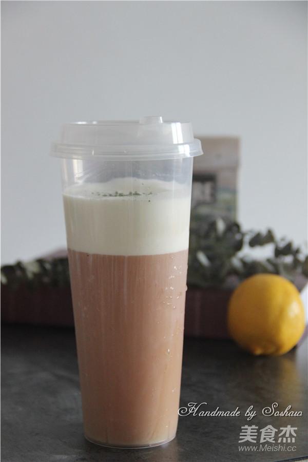 红茶奶盖成品图