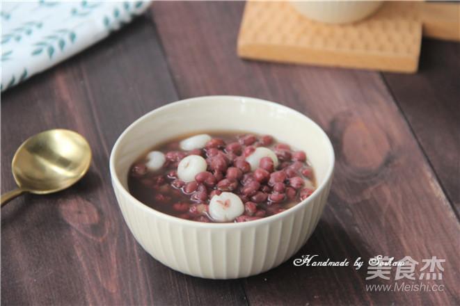 糯米圈圈红豆汤成品图